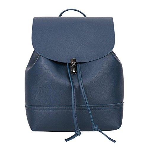 Frauen Vintage Pure Color Leder Schulranzen Rucksack Trave 21cm(L)*10cm(W)*26cm(H)/8.26(L)*3.93(W)*10.23(H)
