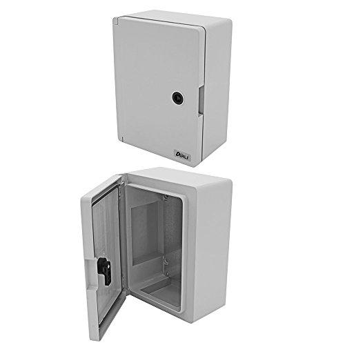Schaltschrank IP65 250 x 350 x 150 mm Industriegehäuse verzinkter Montageplatte Verriegelung Tür mit umlaufender Dichtung Gehäuse Leergehäuse ABS Kunststoff leer Schrank ARLI 25x35x15 cm