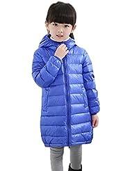 Vlunt - Chaqueta de plumón ligero con capucha para niños