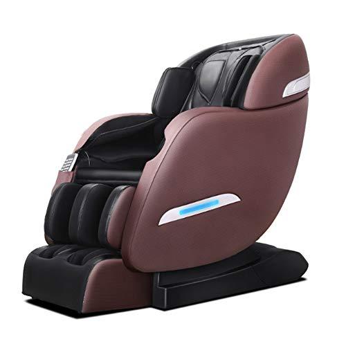 WDDP Massagesessel Mit Wärmefunktion, Shiatsu-Massage, Neigungsverstellung Elektrisch Automatikprogramme Knetmassage Klopfmassage Rollenmassage Sessel Massagestuhl,Brown