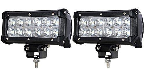ALPHA DIMA 2X 36W 72W 18W Phare de Travail LED Lampe Work Light IP67 Phare Véhicule Tout-Terrain 12V 24V Lumière LED pour Voiture SUV ATV Tracteur Camion 4x4(36 Watt)