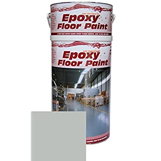 Epoxy Resin Floor Paint by Ask Coatings. For Garage, Industrial and Domestic. 5L (Grey)