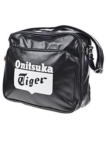 Asics Messenger Bag-Borsa da spalla per fitness/ginnastica, da uomo, taglia 1 Bianco bianco/nero 1 Nero