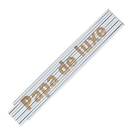 Zollstock Meterstab Laser Gravur Spruch Vatertag Opa Geburtstag Text Auswahl, Spruchartikel:Papa de luxe (Ein Zeichen Der Wertschätzung)