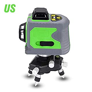 TRULIL Laser Level Self Leveling 12 Lines 3D 360 Horizontal And Vertical Cross Super Powerful Green Line Laser Green Laser Level BOX Outdoor Cross Line Laser Level