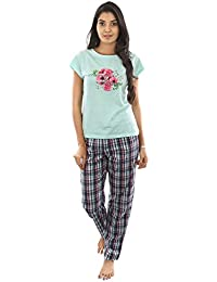 B STORIES Women's Cotton Printed Pyjama Set