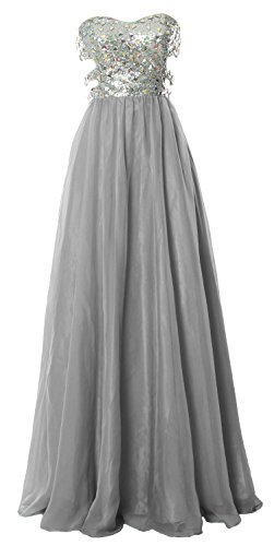 MACloth - Robe - Ajourée - Sans Manche - Femme Gris - Gris