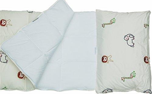 Nestbauglück Kinder-Schlafsack, weiß, Gestickte Zoo-Tiere