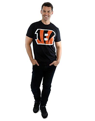 Majestic Herren NFL Cincinnati Bengals Logo T-Shirt Schwarz