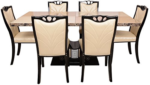 Carigari Six Seater Dining Set (Beige)