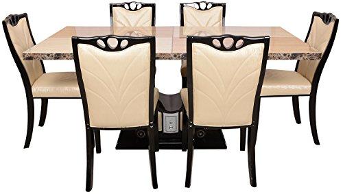 Carigari Six Seater Dining Set (Beige)