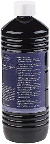Carlo Milano Gartenfackel: Geruchsfreies Lampenöl für innen und außen, 1 Liter (Lampenöl für Innenbereich) -