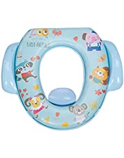 Mee Mee Cushioned Non-Slip Potty Seat with Easy Grip Handles and Pee Shield, Blue