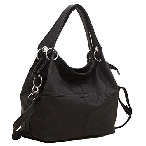 Honeymall Borse Donna,borse tracolla donna Hobo Crossbody Beige Nero