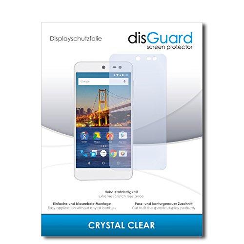 disGuard® Bildschirmschutzfolie [Crystal Clear] kompatibel mit General Mobile 4G [2 Stück] Kristallklar, Transparent, Unsichtbar, Extrem Kratzfest, Anti-Fingerabdruck - Panzerglas Folie, Schutzfolie