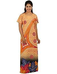 AISNIGHA Womens Sandal Floral Print Cotton Nighty