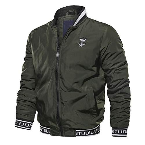 ADESHOP Herren Oberbekleidung Herren Herbst Winter Casual Langarm Stand Baseball Uniform Flying Jacket