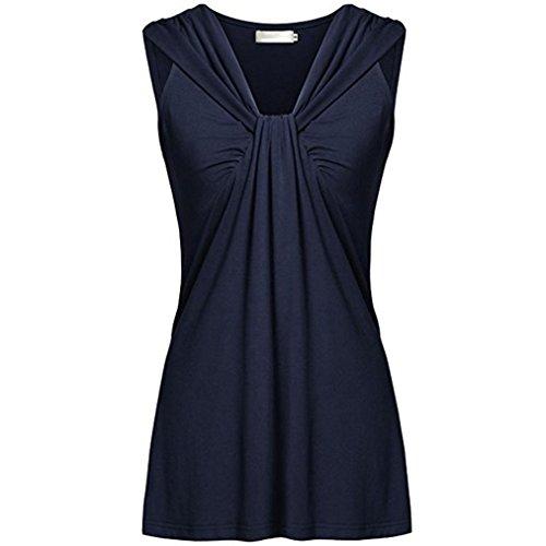 Preisvergleich Produktbild Malloom® 2018 Damen Somme Mode Ärmellose Chiffon Bluse Elegant Weste Top Hemdbluse Unregelmäßigkeit Casual Unterhemd Shirts