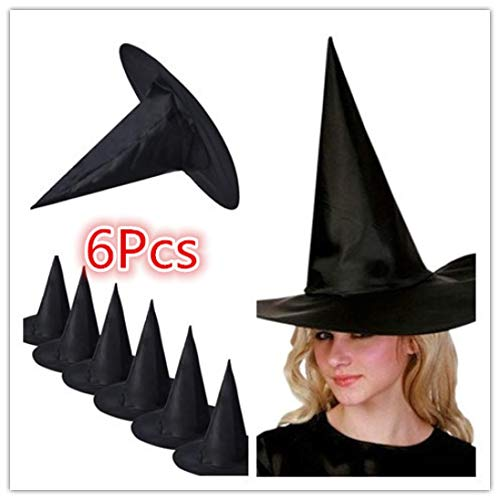 Vovotrade 6 Stück Schwarze Hexe Hüte für Halloween -