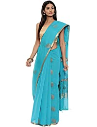 CLASSICATE From the house of Classicate From The House Of The Chennai Silks - Silk Cotton Saree - Blue Bird - (CCMYSC9348)