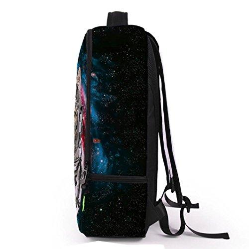 Hunpta Frauen Männer 3D Galaxie Spielraum Schultaschen Rucksack Schulter Bookbag Schule Beutel B