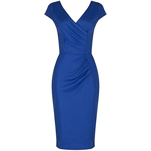 Pretty Kitty Fashion Atemberaubend Königsblau Hollywood Glanz Bodycon-Bleistift-Kleid