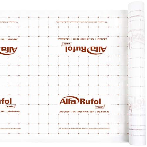 Universelle feuchteregulierende rücktrocknende Dampfbremse Dampfsperre für eine luftdichte Gebäudehülle 75 m² (1,5 m x 50 m)