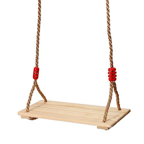 KING DO WAY Erwachsene und Kinder Schaukelsitz Schaukeln SchaukelBrett aus Holz Holzschaukel mit Sei
