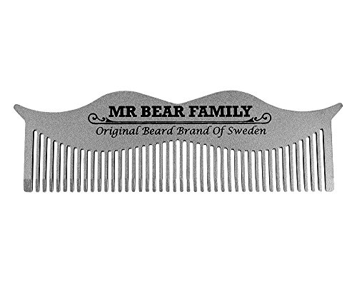 Mr. Bear Family : Moustache Steel Comb – Peigne à barbe