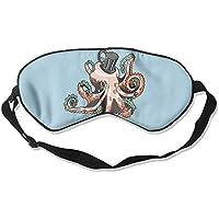 Gentleman Octopus Natural Silk Sleep Mask Comfortable Smooth Blindfold for Travel, Relax preisvergleich bei billige-tabletten.eu