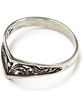 zierlicher Ring Silber filigran Kinder Damen Ring elegant Ringschiene: 3mm Größe frei wählbar Silberring