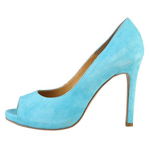 Made in Italia Damen Erminia Peep-Toe Himmelblau