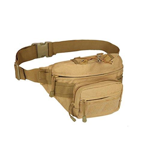 Bauchtasche Hüfttasche ,LMMVP Outdoor Trekking Hip Bag Camping Wandern Taschen Khaki