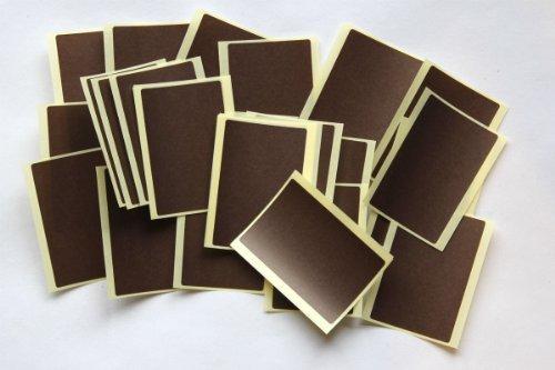 Etiquetas adhesivas de colores para codificar, 30 unidades, color marrón