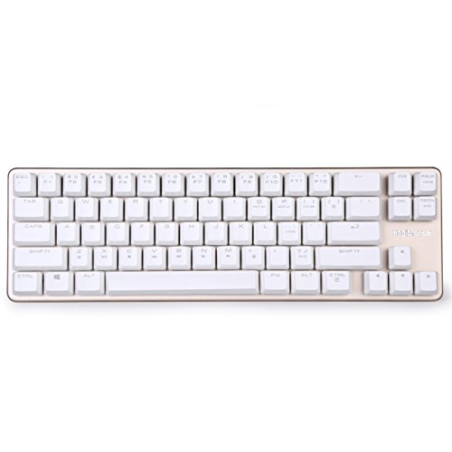Qisan Mechanical Keyboard Gaming Keyboard 68-Keys Mini Design(60%)Gaming Wired Keyboard