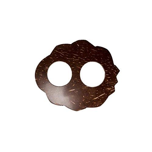 Sarongschnalle Pareo Wickel Rock Schnalle Spange Schliesse aus Kokos zum Sarong binden - sieben verschiedene Formen zur Auswahl Oval mit Bögen und Ecken