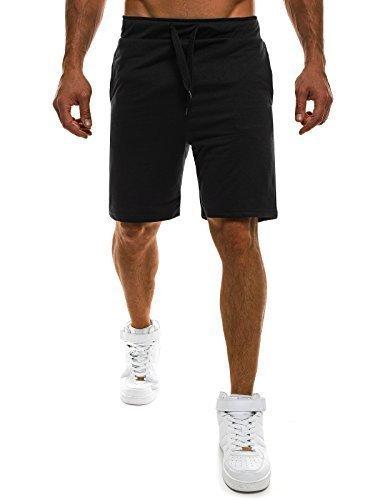 OZONEE Herren Jogg Freizeitshorts Sportshorts Knielang Kurze Hose Shorts Bermudas J.STYLE AA07 SCHWARZ L (Bermuda-shorts Schwarze)