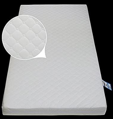 Anti-Bacterial Baby Junior / Toddler Cot | Cot Bed Foam Mattress (160 x 70 x 13 cm) with Quilted Breathable Zip Cover