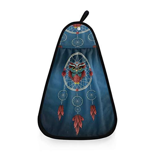 ALARGE - Toalla de Mano con diseño de búho atrapasueños étnico Tribal, Secado rápido, Toalla para Colgar en la Cara, paño de Limpieza para el hogar, Cocina, baño