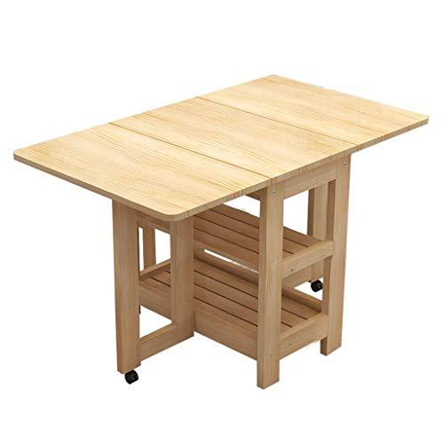 LLRDIAN Alle massivholz klapp esstisch Hause esstisch Platz Tisch einfache teleskop holztisch bietet Platz für kleine Wohnung Computer-Klapptisch (Farbe : A) - Klapp-esstisch