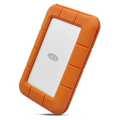 LaCie STFS500400 Thunderbolt 0,5 TB Externe robuste SSD Festplatte (6,4 cm (2,5 Zoll) Rugged, Staub-, Stoss- und Spritzwasser- geschützt, Thunderbolt und USB-C)