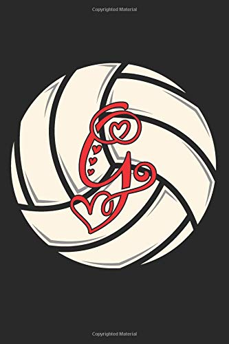 G: Volleyball Journal Monogram Initial G Personalized Volleyball Gift for Players Coach Students Teachers (Volleyball Lovers) por Happy Healthy Press