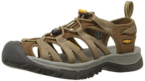 Keen WHISPER 5124-BKGA Damen Outdoor Sandali, Liqueur/Keen Yellow, 39.5