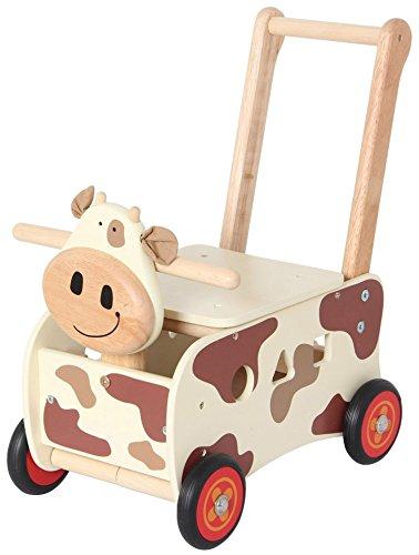 I m Toy - Carro de juguete para empujar con diseño de vaca