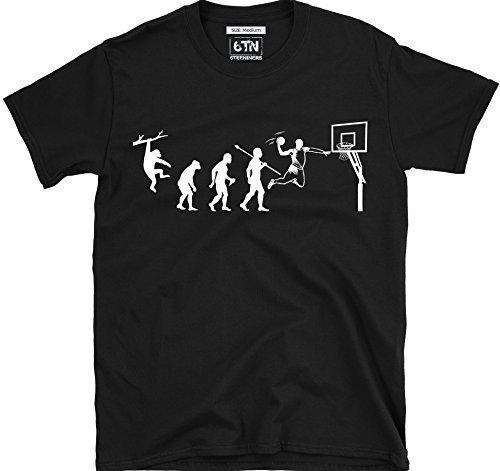 Évolution du Basket-Ball T Shirt - Noir, Small