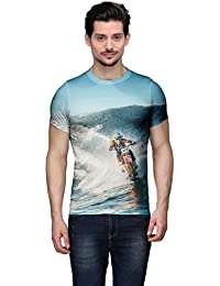 Wear Your Mind Multi-Coloured Cotton T-Shirt For Men CST222