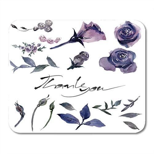 Mouse Pads Color Age Painting Watercolor Halloween Day Purple Flowers on Rose Cartoon Cut Mouse Pad for Notebooks,Desktop Computers Mouse Mats, Office Supplies