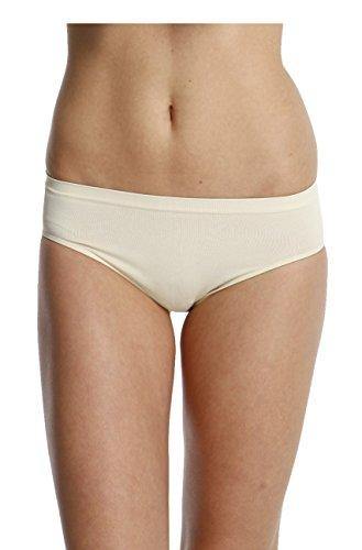 3er Pack Seamless Mikrofaser Hüftslip, Nahtloser Slip, Low Cut, Bikini Hipster Haut
