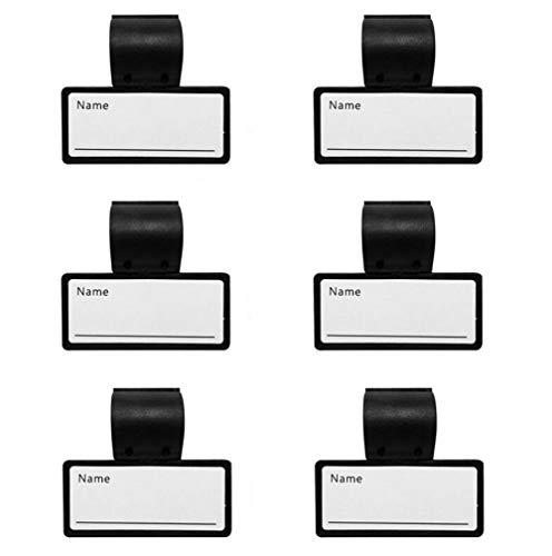 Sourcingmap Ausweishalter für Stethoskopschlauch, Kunststoff, zweiseitig, Schwarz, 6 Stück