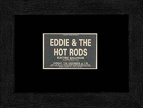 Eddie & the Hot Rods - Electric Ballroom London 17th December 1978 Framed Mini Poster - 20x18cm
